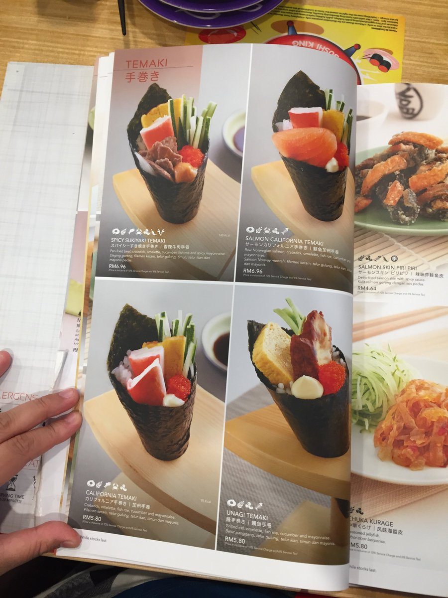 Food On Twitter Menu Sushi King Malaysia 8 10