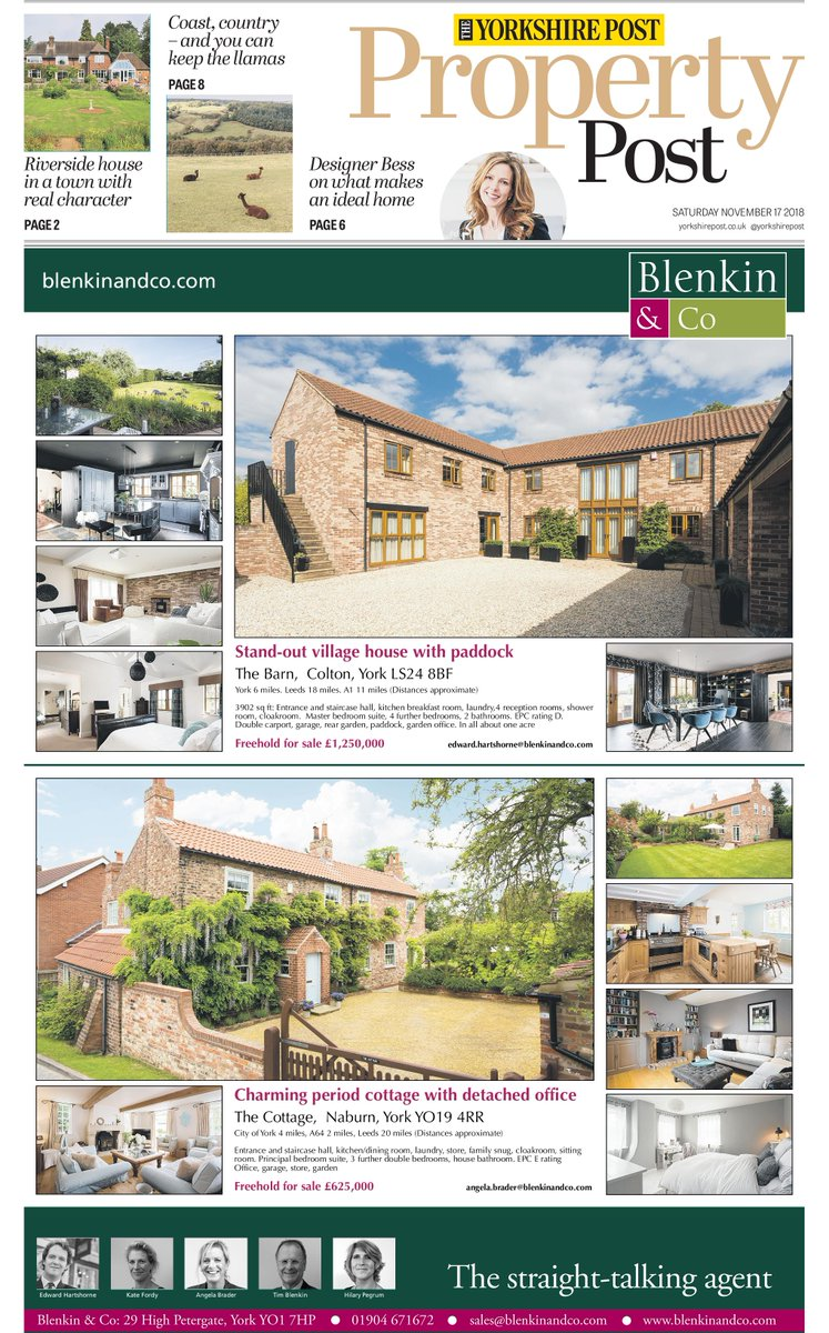 The serious players in the property market buy The Yorkshire Post - this weekend's front page supplement has got the buyers talking @JayMitchinson @IanDayPix @MikeGauntDesign @propertywords @eliz_edmondson #buyapaper #goodjournalismmatters @YorkshireIs @PromoteYorks #yorkagent