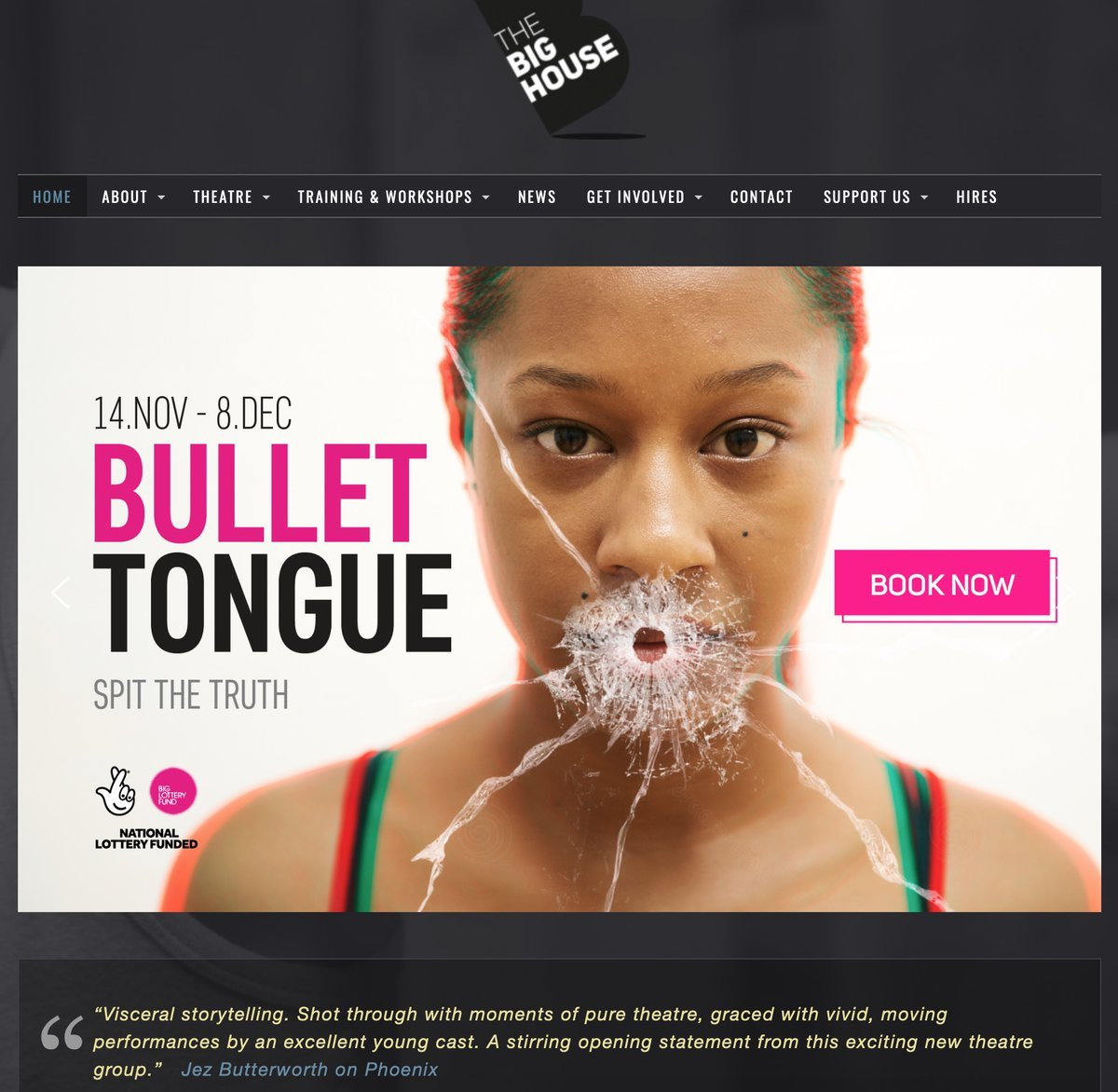 Another fabulous show #bullettongue from @BigHouseTheatre - great acting, edgy and energetic. Book your ticket now!