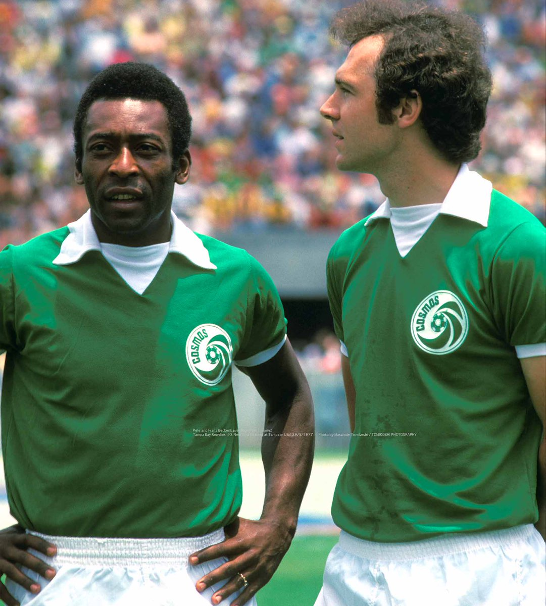 "tphoto ar Twitter: ""Pele and Franz Beckenbauer(New York Cosmos) Tampa Bay Rowdies 4-2 New York Cosmos at Tampa in USA 29/5/1977 Photo by Masahide Tomikoshi / TOMIKOSHI PHOTOGRAPHY… https://t.co/EfeeNFRa9e"""