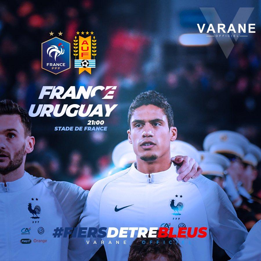 ⚽️🇫🇷 France / Uruguay ce soir 21:00 !! #Fiersdetrebleus