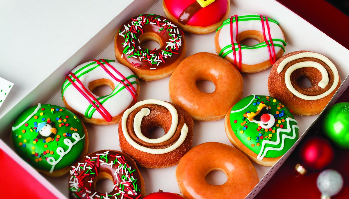 Krispy Kreme Christmas Doughnuts 2021 Krispy Kreme On Twitter We Re Dreaming Of An Iced Christmas Santa Belly Ugly Sweater And Holiday Plaid Doughnuts Are In Shops Now