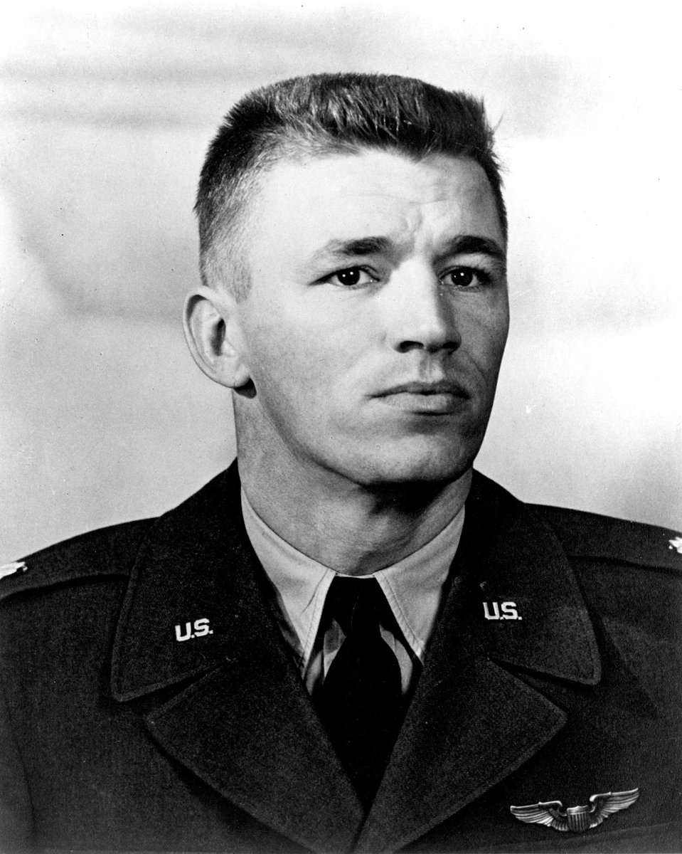 Today we honor the sacrifice of Medal of Honor recipient U.S. Air Force Major Charles Loring. During the Korean war he aimed his F-80 directly at enemy fire and deliberately crashed destroying the target. His memorial marker is in Section MK. #ServedWithHonor