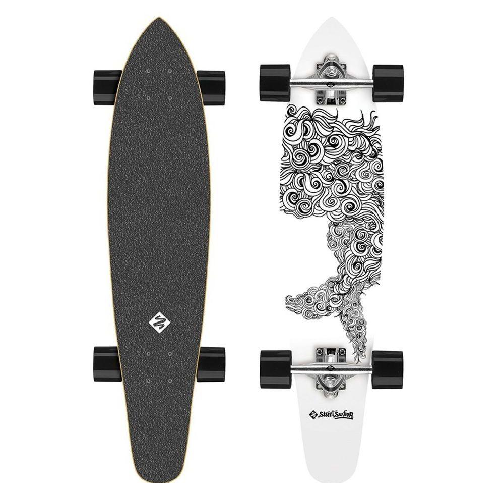 "Maronad ® Longboard Skateboard 41/"" drop through board ABEC 11 completa dripscull"