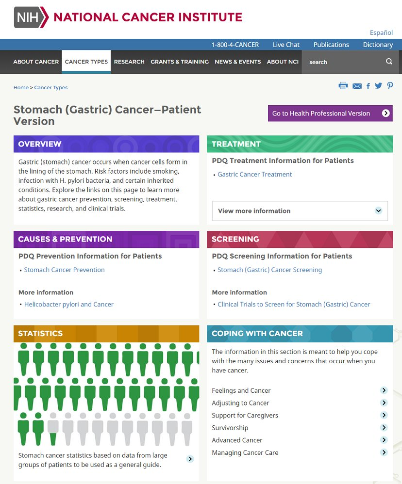 94f84a78093 #StomachCancer is the 5th most common cancer. Read more from @theNCI on its  causes and prevention, screening, statistics and more: ...