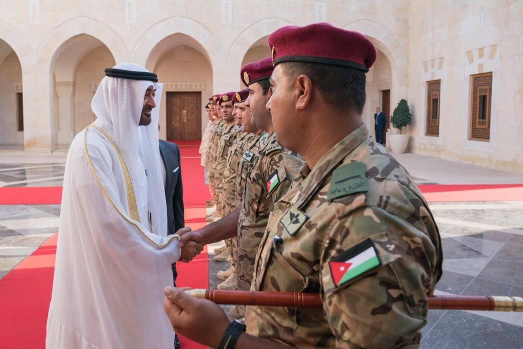إطلاق اسم محمد بن زايد آل نهيان على لواء التدخل السريع الاردني  DsdOoRWWsAADrad