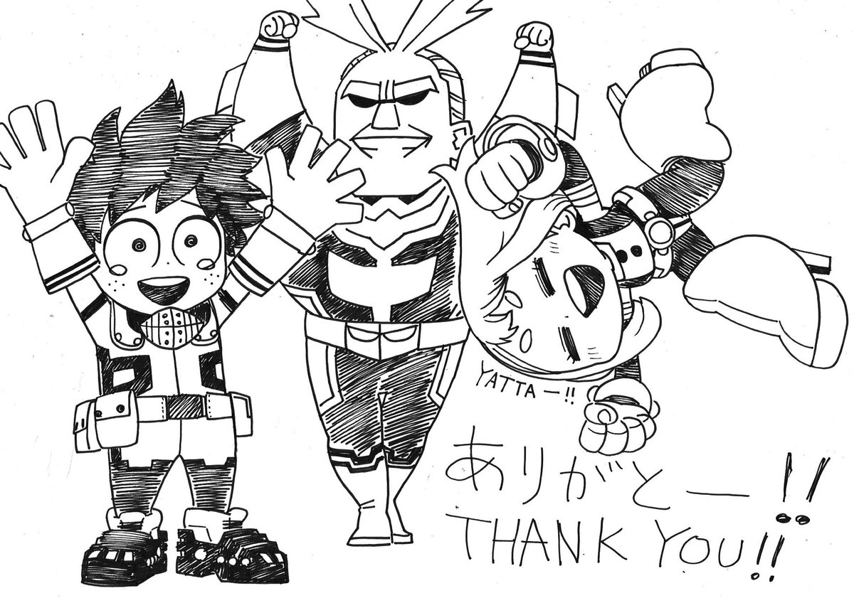 誕生日祝って下さった皆様ありがとうございました!応援嬉しいです!これからもデクたちをよろしくお願い致します! Thank you so much for your messages!They all made me happy! I do appreciate for your support for Deku and his mates. I wish you keep cheering them!!Thank you again!