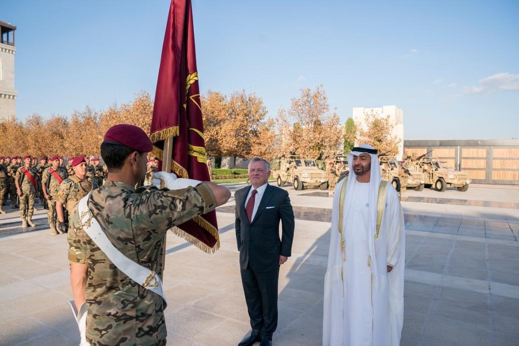 إطلاق اسم محمد بن زايد آل نهيان على لواء التدخل السريع الاردني  DsdVQAFWsAAtuGr