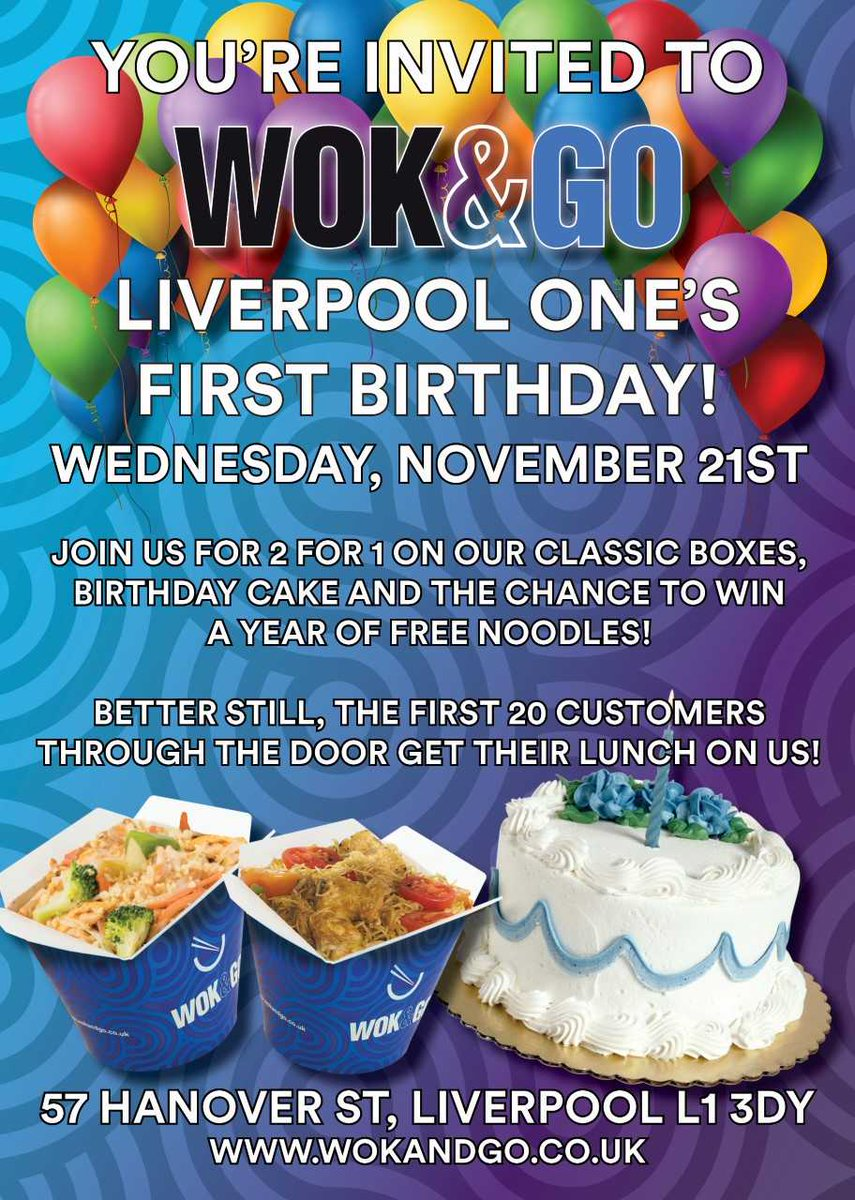 Wok Go On Twitter We Have A Birthday Tomorrow Over At Wok Go