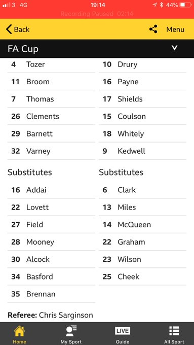 When your lad is named on the bench for @CTFCofficial #FACup Photo