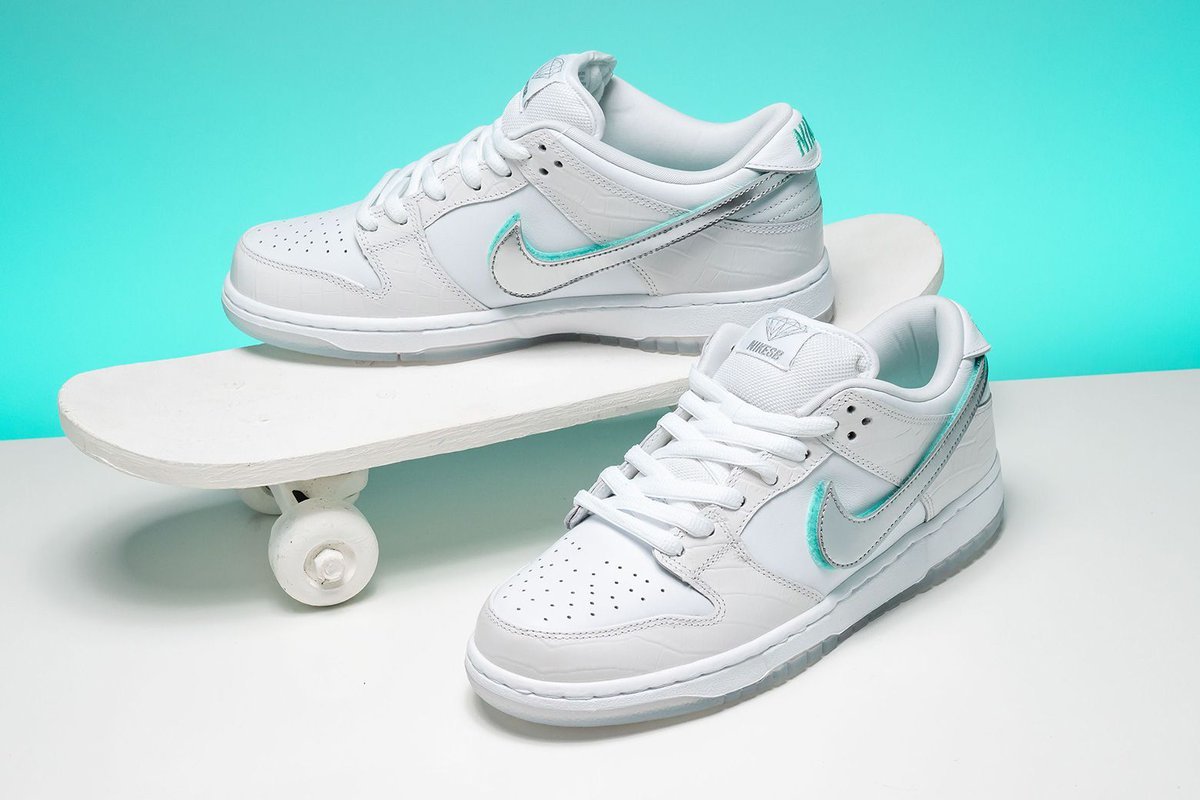 08fb6a764053 The new Diamond Supply Co. x Nike SB Dunk Low in white is one of the most  pristine gems you could ever put on your feet. https   buff.ly 2TshhCV ...