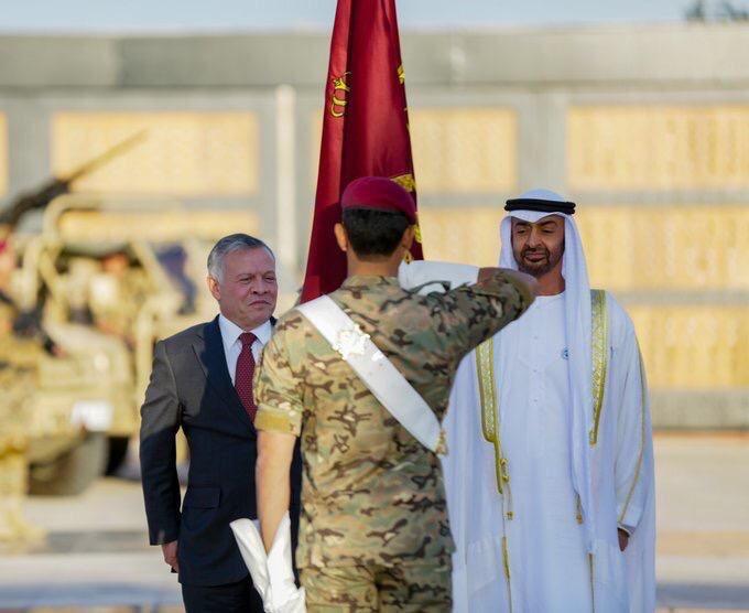 إطلاق اسم محمد بن زايد آل نهيان على لواء التدخل السريع الاردني  DsdiyR6W0AkN6bt