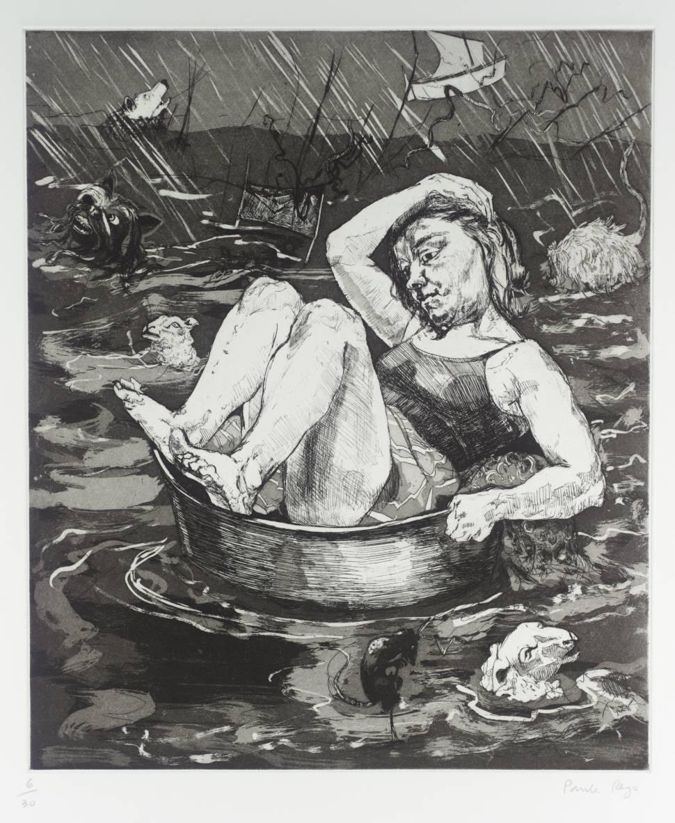 Today's commute 🌧️ #TateWeather  Paula Rego, Flood 1996 https://t.co/HOGbcJXMFt