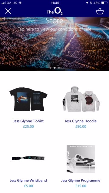 Heading to @JessGlynne tonight? Download The O2 app to pre-order your merch to collect before the show. Plus get 10% off all food and drink orders.   iPhone: https://t.co/k8cp7X7APC  Android: https://t.co/2XBsjJeGv0