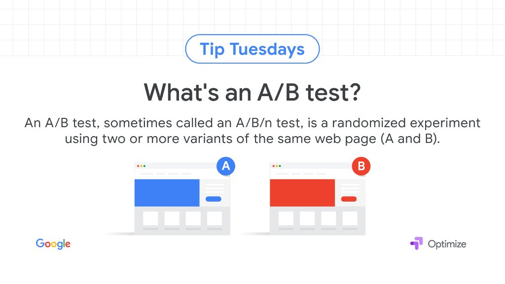 Optimize lets you test which web pages yield the best results. Get an overview of the types of experiments available → https://t.co/FB22iuDqcf