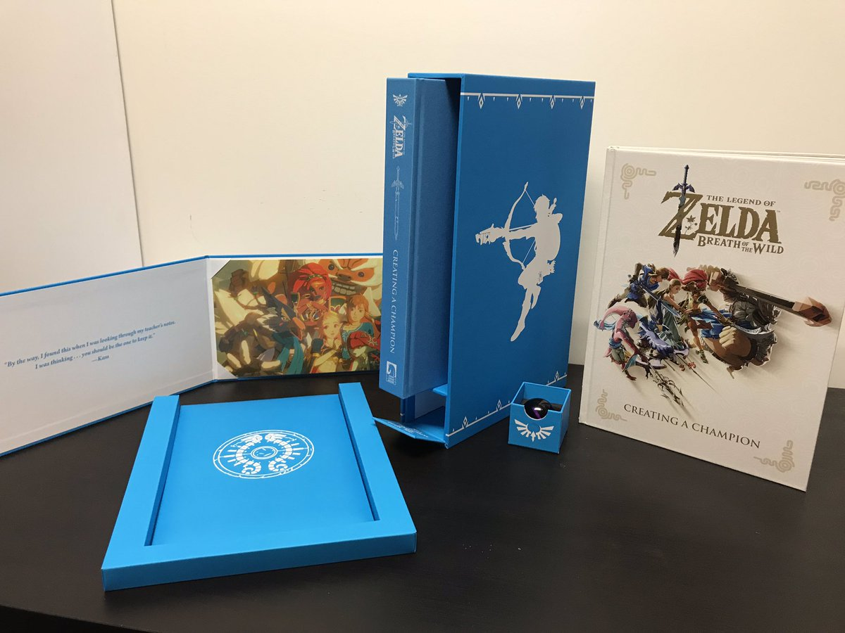 The Legend of Zelda: Breath of the Wild - Creating a Champion HC and Hero's  Edition are here! Available at both comic and book retailers today.