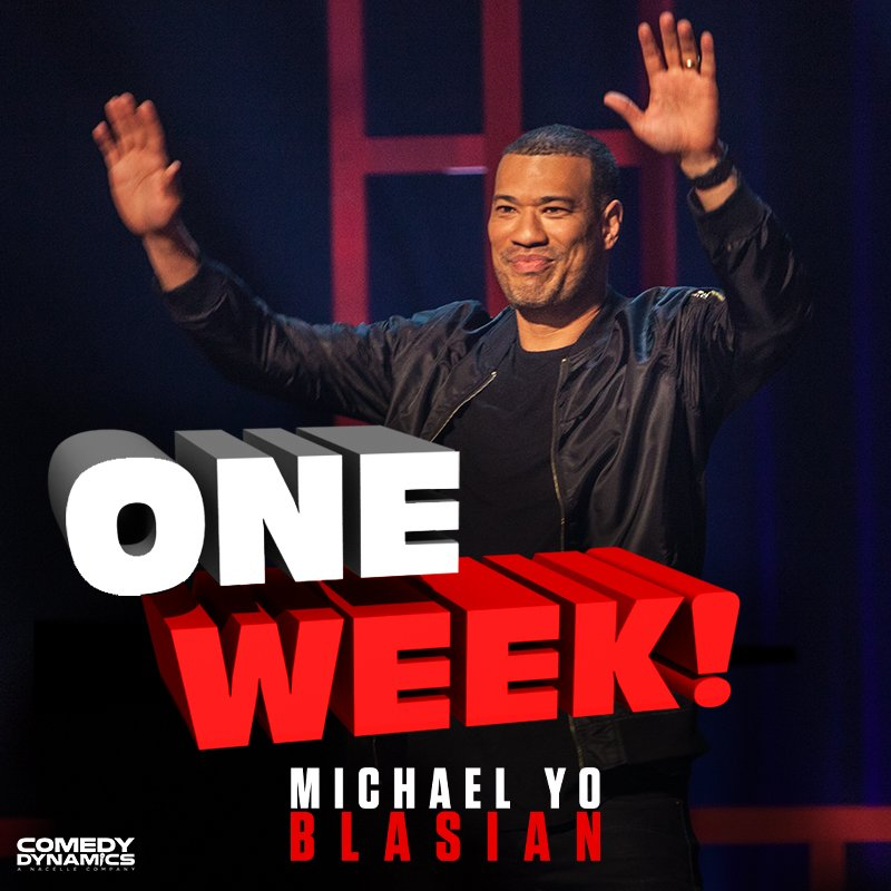 Seven days!? Yep, just one week till @MichaelYo's Blasian!  #YoBlasian #ComedyDynamics . . . . #Hilarious #OneWeekAway #MichaelYo #Blasian #StandUp #Comedy #Comedian #LOL