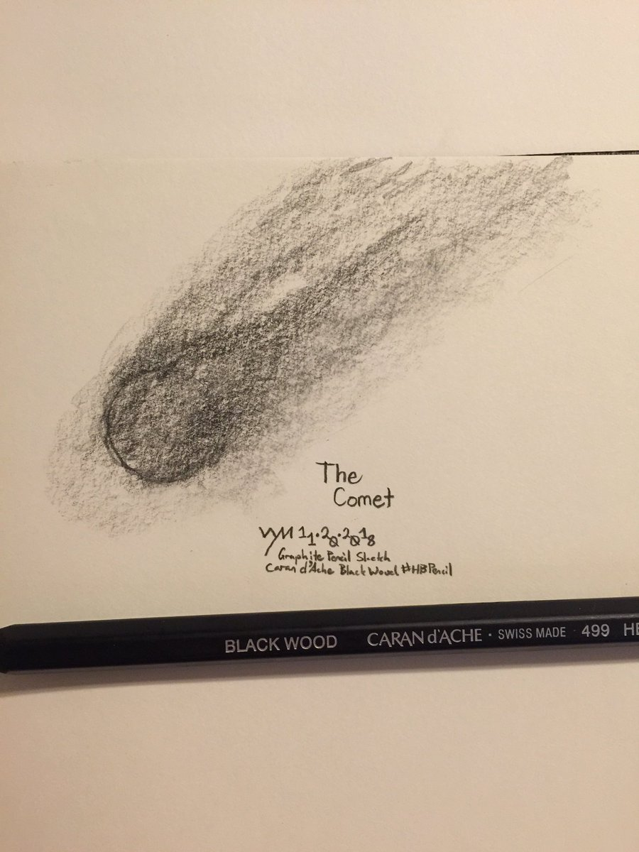 #wynart The Comet #thecomet #art #traditionslart #traditionalsketching #graphite #pencil #sketch #sketching #pencilsketching #carandache #blackwoodpencilpic.twitter.com/zecd1osuhZ