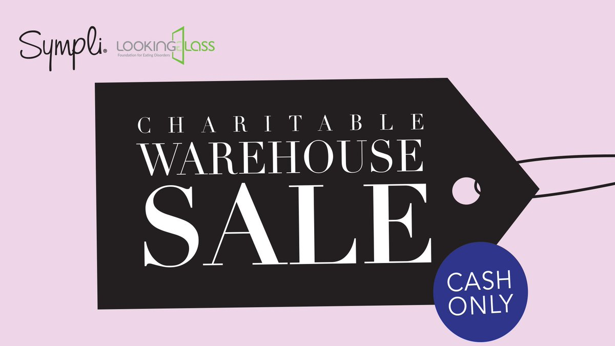 Join us for our semi-annual Warehouse Sale! All proceeds from this 2-day Warehouse Sale will be donated to co-hosts of the event, @Looking_GlassBC , a local organization dedicated to the support of those suffering from eating disorders. https://t.co/O4I5Bg3O2g