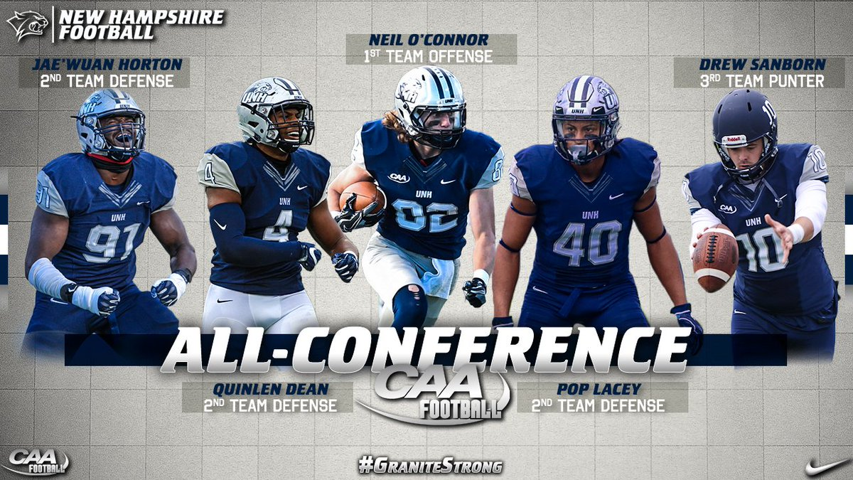 Unh Football On Twitter Five Cats Earned Caafootball All