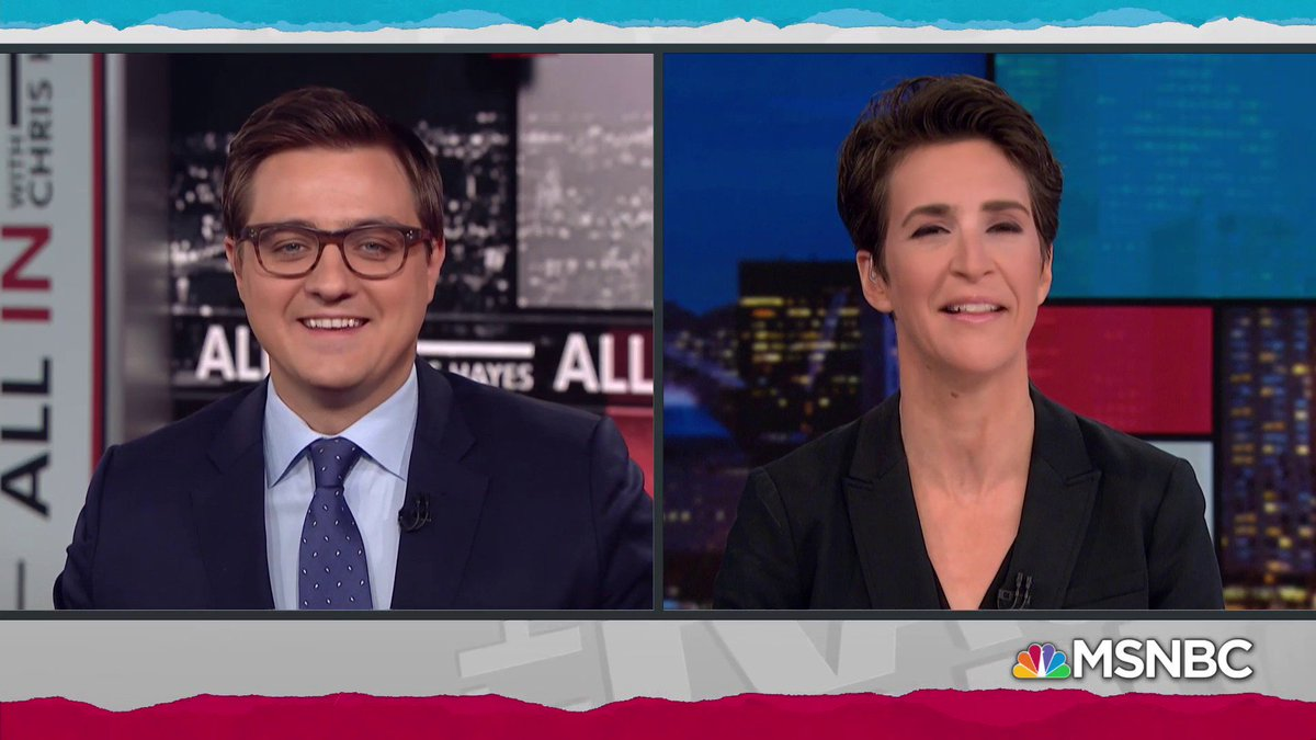 Image for the Tweet beginning: ICYMI: @chrislhayes and @maddow talked
