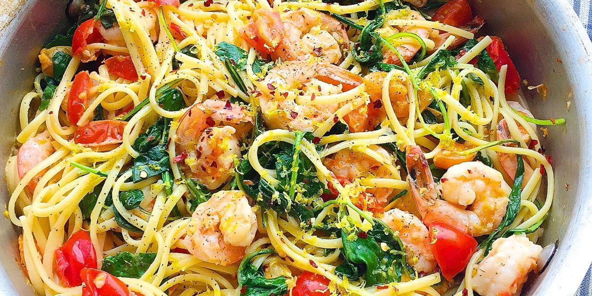 Creamy Shrimp Linguine with Tomatoes, Kale, and Lemon Zest https://t.co/Qso7GDtnxI https://t.co/BrE2JwOwOF