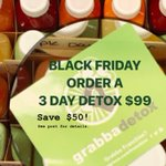 Check out our Insta profile @grabbagreenaz54 for details but you won't want to miss this huge savings on juice detox cleanses.