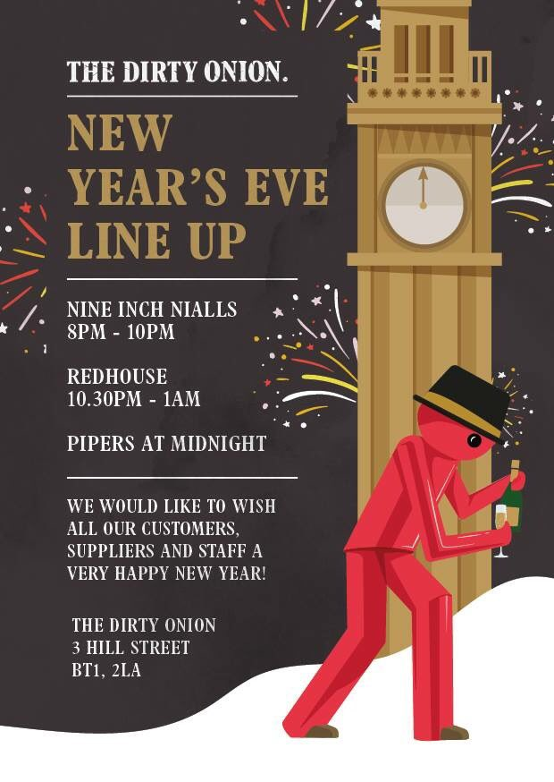 NYE at the Onion!! Free entry as always / no tickets required. Who's in?? 🍾🙌🏻