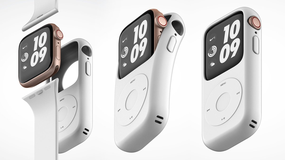 Give me this adorable case that turns my Apple Watch back into an iPod