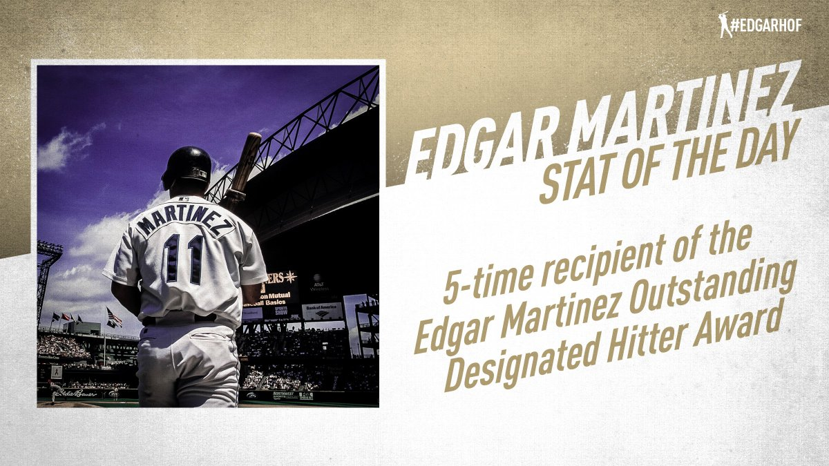 Edgar Martinez was named Outstanding DH of the Year 5 times. In 2004, the award was named after him. #EdgarHOF More: atmlb.com/2RSjDJO
