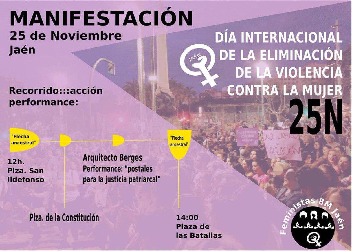Resultado de imagen de manifestación contra la violencia machista Jaén 25N 2019