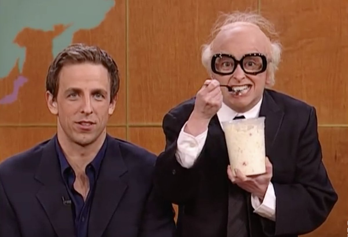 Brad and Abe Scheinwald reunite on @LateNightSeth tonight.