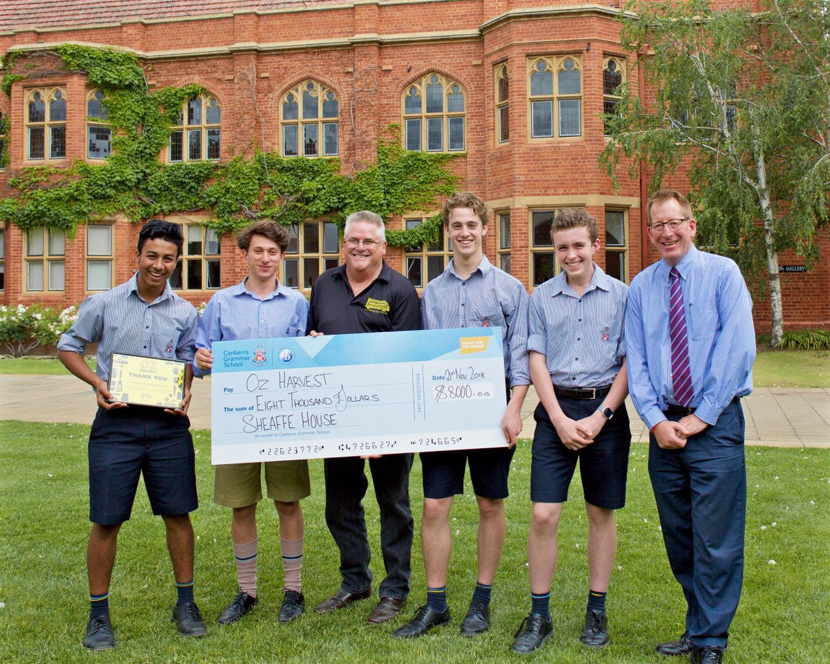 Extraordinary work by the team behind the Sheaffe House Mini-Fete this year, with $8,000 donated to @OzHarvestACT @OzHarvest - well done to all students & staff involved.