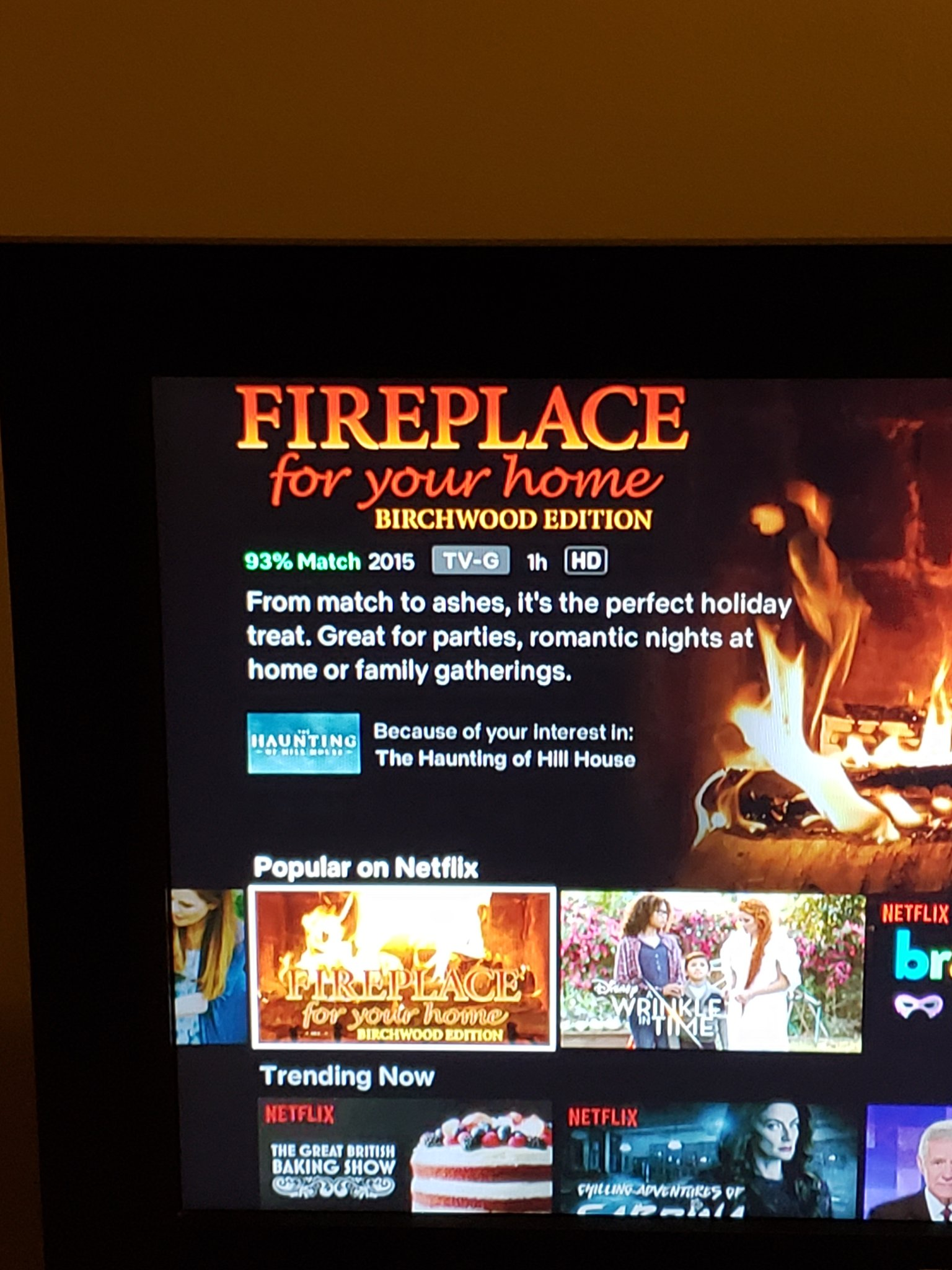 Wandering Witch On Twitter Fireplace For Your Home Birchwood Edition Recommended Because You Watched The Haunting Of Hill House Umm
