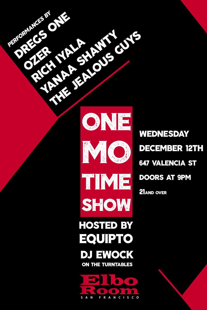 Image result for One Mo Time Show elbo room