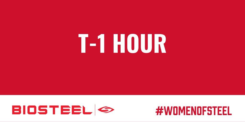 T-1 hour until the @BioSteelWomen #WomenOfSteel Twitter Party! #BioSteelWomen