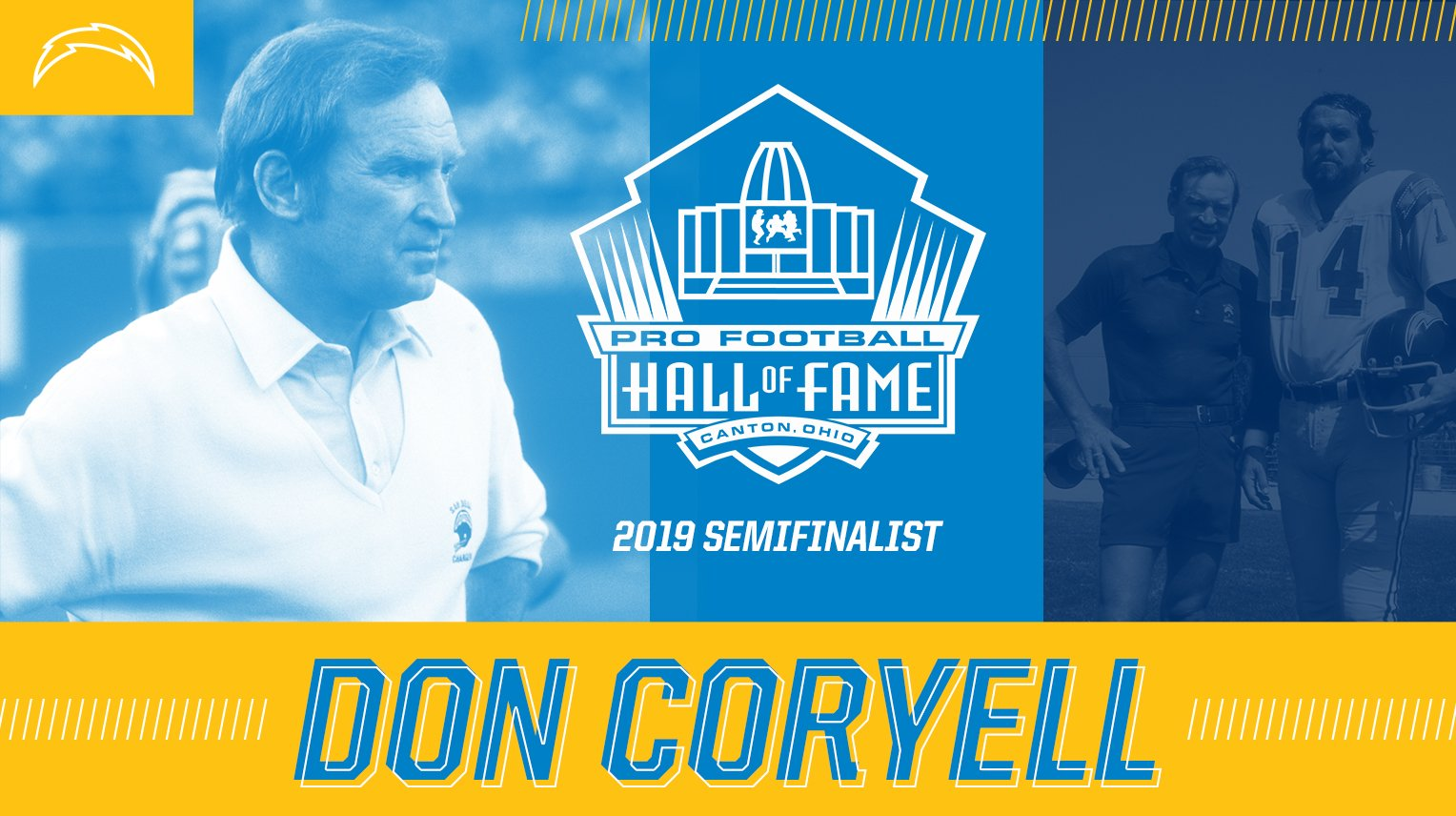 Don Coryell has been named a @ProFootballHOF semifinalist for the Class of 2019.  → https://t.co/lckMIFqXmx https://t.co/QI88UvKaky