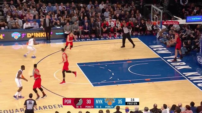 Nik Stauskas gets it to go at the buzzer in the first quarter Photo