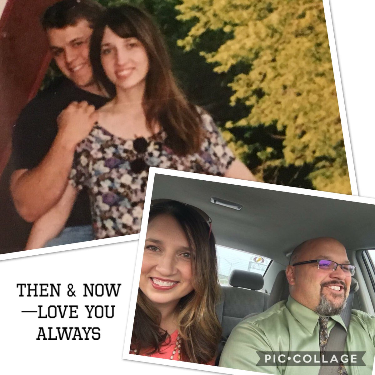 One picture is our honeymoon the other was a few weeks ago. 20+ years of marriage and she's my best friend. #Thanksgiving #ThankfulForFamily <br>http://pic.twitter.com/XiOQ6kHr2z