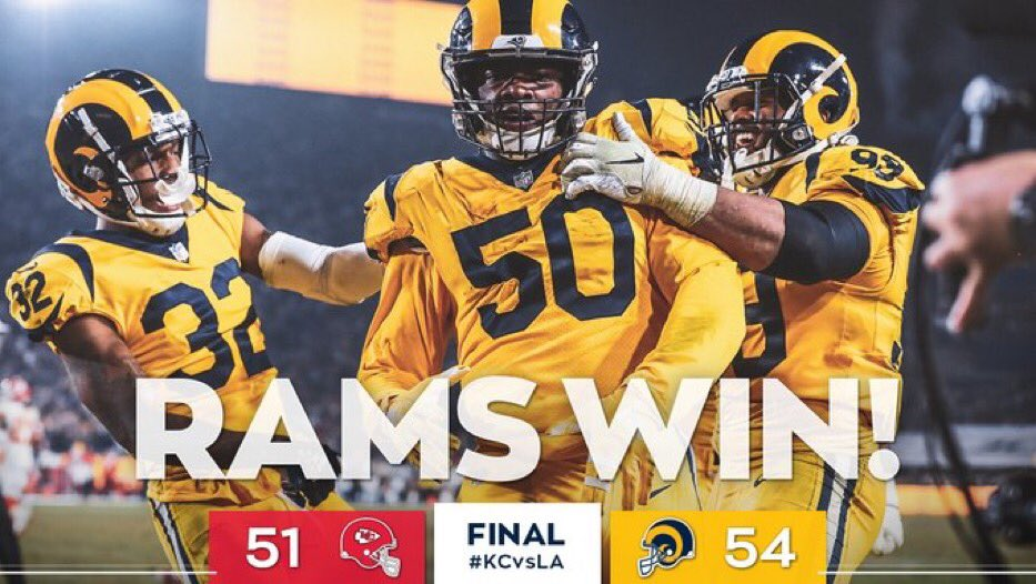 Monday Night Football Game Between Rams and Chiefs Becomes Instant Classic: Twitter Reacts https://t.co/KNV3jXxy0G