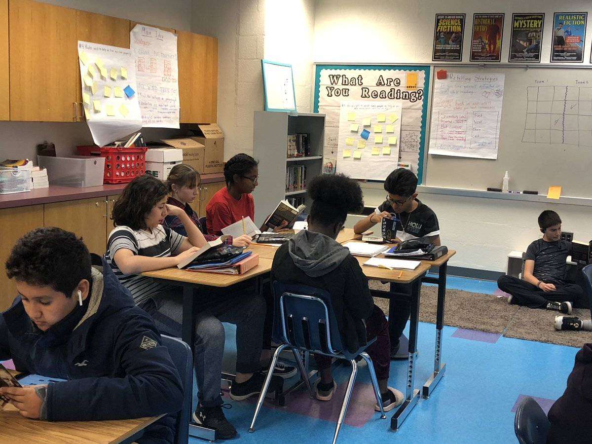 Loved Mrs. O'Dea's Ss! Whole class chose literal, inferential, and critical statements, then read their self-selected books &amp; worked w/them ind 2 continue activity of ILCs.  Notice some Ss have audible option, mtg their needs <a target='_blank' href='http://twitter.com/GunstonMS'>@GunstonMS</a>  <a target='_blank' href='http://twitter.com/APSGunston'>@APSGunston</a> <a target='_blank' href='http://twitter.com/APSVirginia'>@APSVirginia</a> <a target='_blank' href='http://twitter.com/APSGifted'>@APSGifted</a> <a target='_blank' href='https://t.co/KHNC3wSnVq'>https://t.co/KHNC3wSnVq</a>