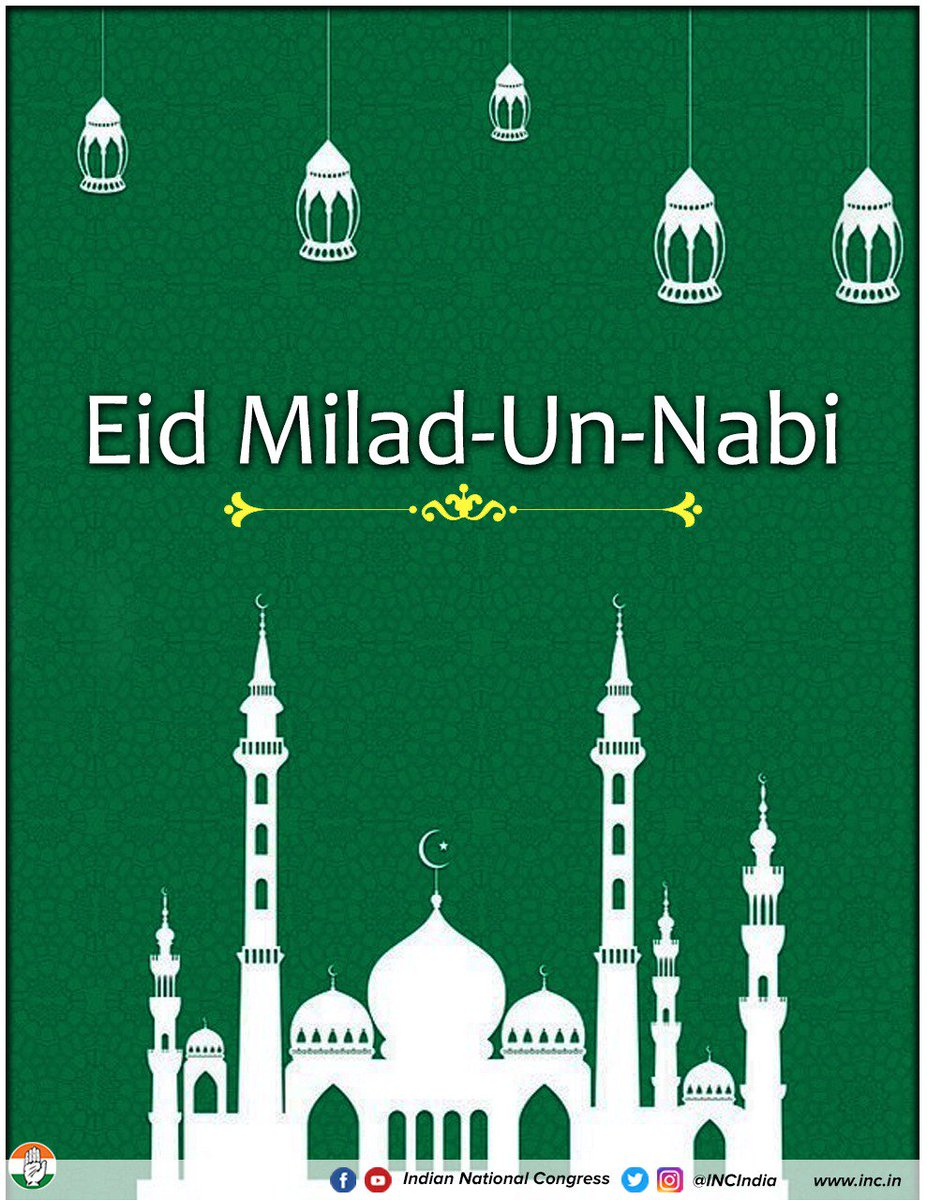 On the auspicious occasion of #EidMiladUnNabi the Congress Party extends warm and heartfelt greetings.