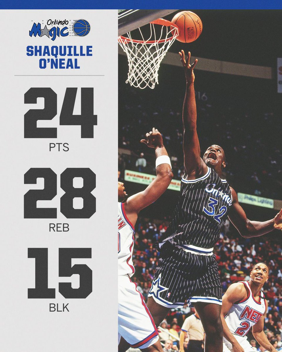 25 years ago, Shaq went OFF with one of the craziest triple-doubles ever.