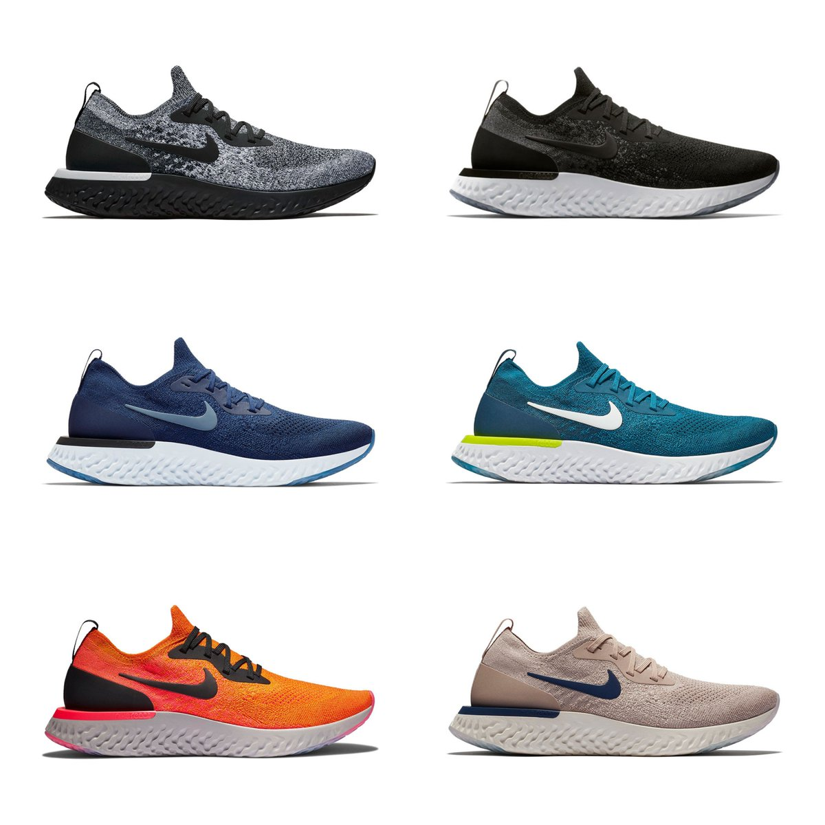 eebb05dd5 50% OFF + FREE shipping on select Nike Epic React Flyknit colorways SHOP  SALE: http://bit.ly/2PHpIw6 pic.twitter.com/cPBBKv7qJf