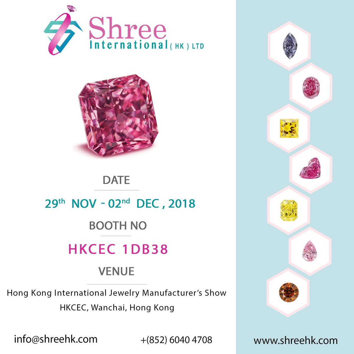 ... our Booth HKCEC #1DB38 at Hong Kong International Jewelry Manufacturer's Show Nov-Dec 2018, HKCEC, Wanchai, Hong Kong #hongkong #hk #hkcec #hongkongshow ...