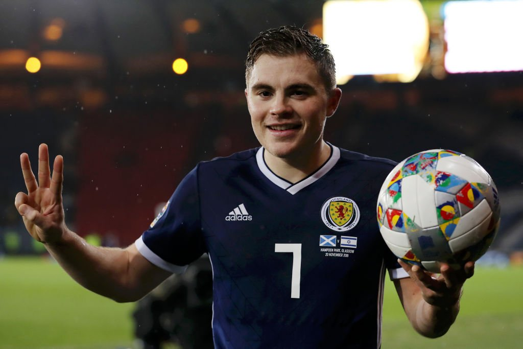 Celtic winger James Forrest scored a hat trick as Scotland clinched a Euro 2020 play-off place against Israel.  More 👉 https://t.co/nOdretoAtF