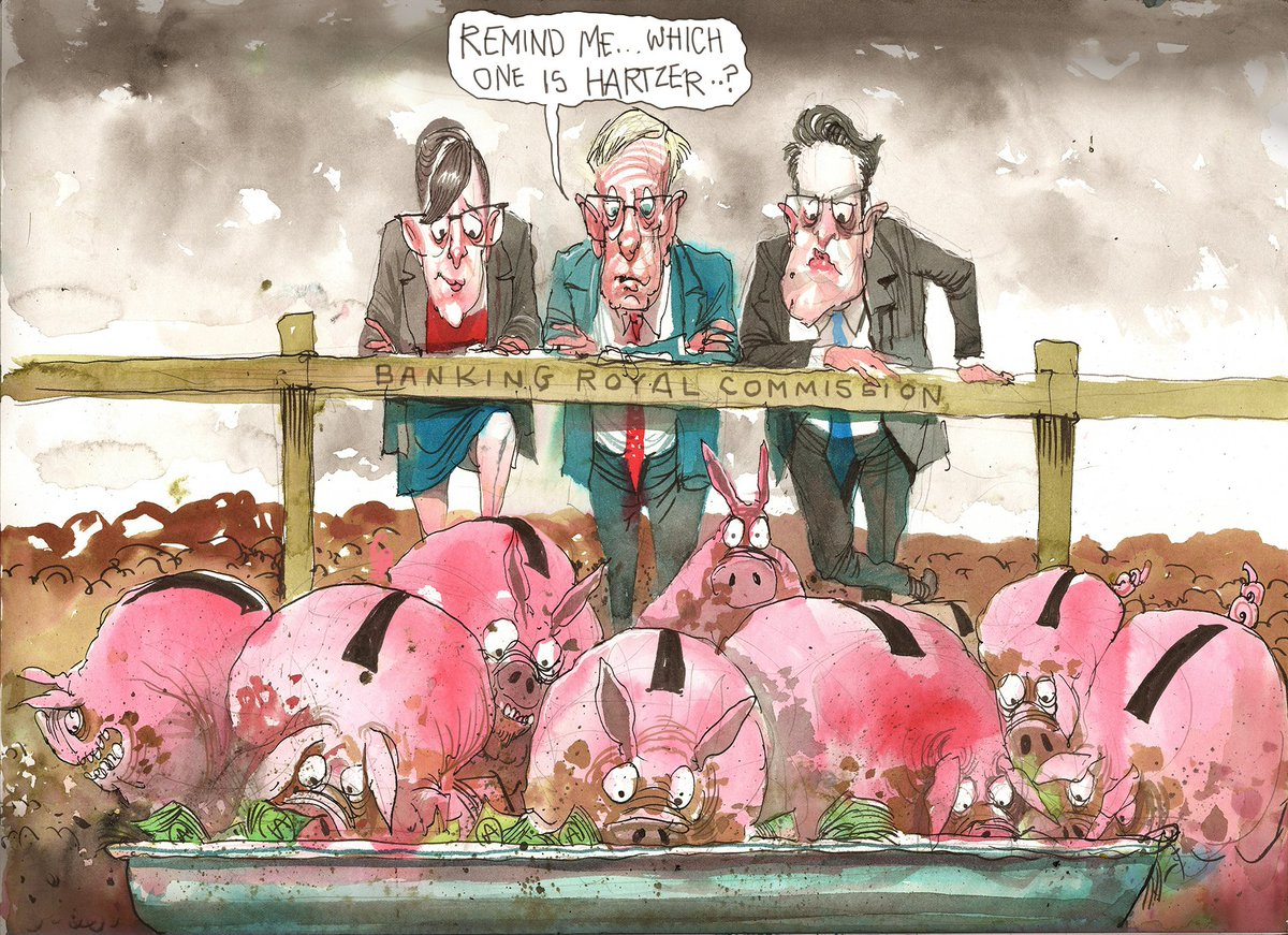'Remind me, which one is Hartzer?' It's @roweafr's editorial cartoon for the day. #bankingRC To see a gallery of cartoons, click here: https://t.co/vCIdUM1Lbb