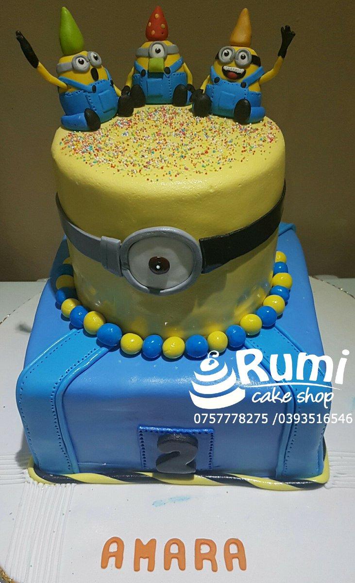 Amazing Rumi Cake Shop On Twitter Everyone Loves Them Some Minions And Funny Birthday Cards Online Benoljebrpdamsfinfo
