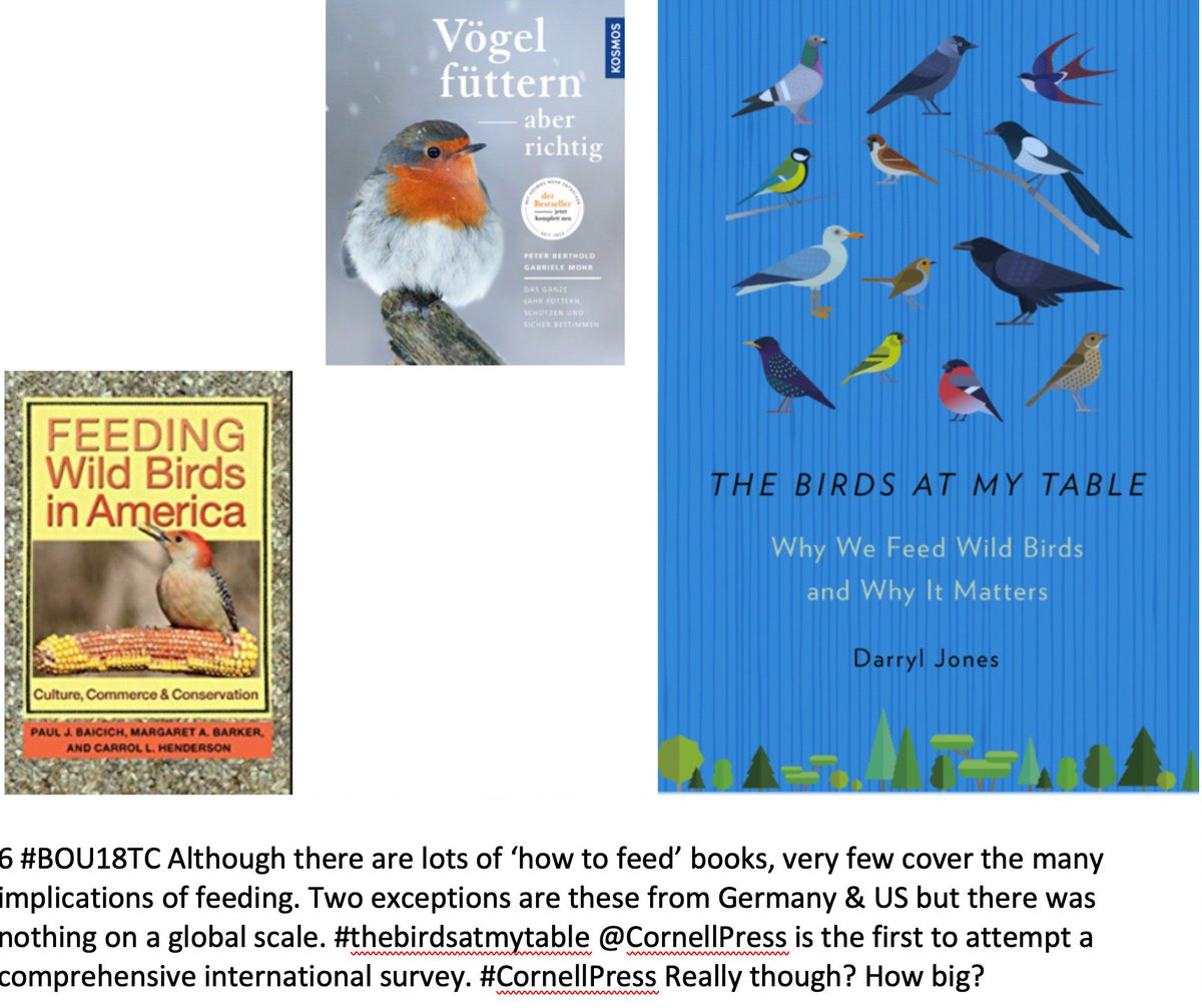 ... implications of feeding. Exceptions are these ( Germany & US) but  nothing on a global scale. #thebirdsatmytable @CornellPress is first  comprehensive ...