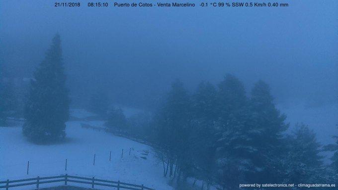 Vuelve la nieve al Puerto de Cotos.